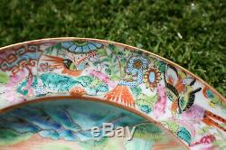 19th Century Antique Chinese Porcelain Hand Painted Famille Rose Character Plate