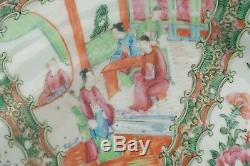 19th Century Chinese Hand Painted Rose Medallion LARGE 18 Platter Beautiful
