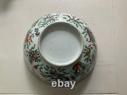 19th Century Famille Rose Chinese Hand Painted Bowl
