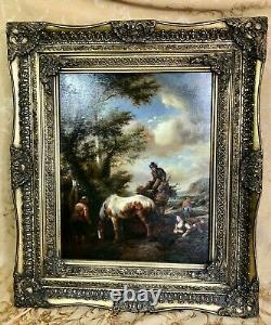 19th Century G. Rose Signed Oil On Canvas Painting Framed