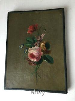 19thC French Antique oil painting Flowers Roses Victoria FANTIN-LATOUR