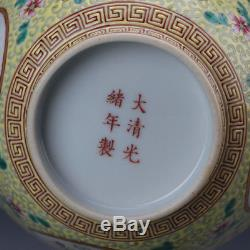 5 China old antique Porcelain Qing Guangxu famille rose hand painting Bowl