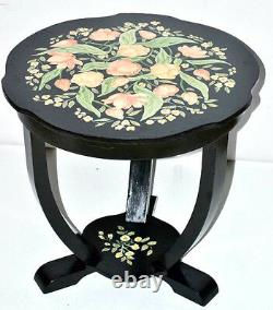 50/60's Retro Magnolia & Rose Painted Coffee Table FREE Shipping PL3274