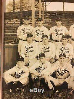 Antique 1944 York White Roses Pa Baseball Team Cabinet Photo Vintage Picture Id