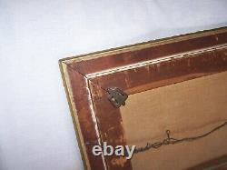 Antique Beautiful Framed Oil Painting ROSES Flowers Floral Estate Find