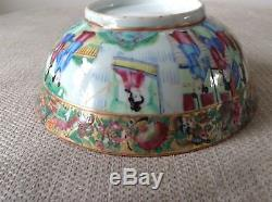 Antique Chinese Famille Rose Bowl Hand Painted Rare Collectable