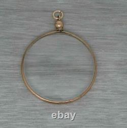Antique English 9ct Rose Gold Double Sided Photo Picture Locket Pendant c1906