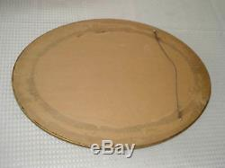Antique Gold Finish Ribbon Sprigs of Roses Picture Frame Oval Mirror 14 x 20