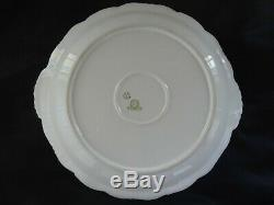 Antique Limoges Charger Cabinet Plate Wall Plaque H. Painted Roses 13 3/4 diam