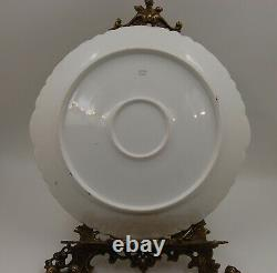 Antique Limoges Roses Hand Painted Plate Plaque Charger