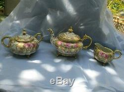 Antique Roses Nippon Hand Painted Tea/Coffee Set, Beautiful Roses Gold Trim