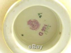 Antique Royal Worcester porcelain reticulated hand painted roses vase G991