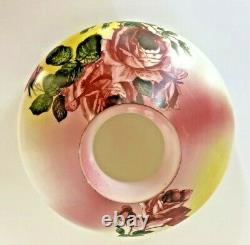 AntiqueGONE WITH THE WIND PARLOR BANQUET LAMP (GWTW)-PAINTED ROSESElectrified