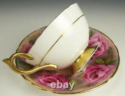 Aynsley Hand Painted Cabbage Roses Tea Cup (a), Saucer (b)