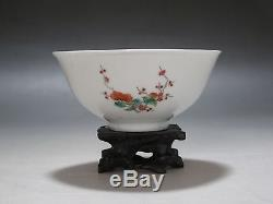 China Famille Rose porcelain old Bowl Hand Painted Flower and fruit Guangxu mark