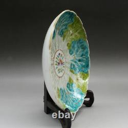 China antique Porcelain Qing guangxu famille rose hand painting cabbage plate