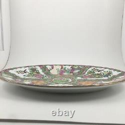 Chinese Famille Rose Medallion 14 Oval Plate Painted Porcelain Platter