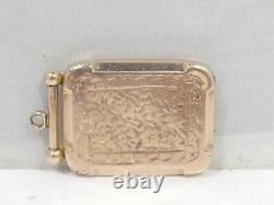 English 9k Rose Gold Victorian Picture Locket 2.3 Dwt