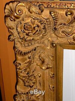 LARGE French FRAME Gold Ornate Baroque Hollywood Roses Books Painting Aliberti