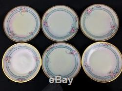 Limoges D&B Germany 23-Piece Hand-Painted Coffee Tea Set for 6 Roses Gold Trim