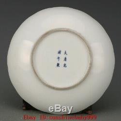 Old Chinese Guangxu marked famille rose Porcelain Hand painted fushou plate 7.3