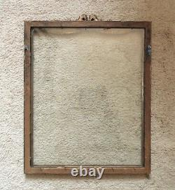 Picture Frame Antique Victorian Gilt Wood & Gesso Ribbon & Bow with Barbola Roses