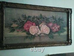Roses Antique Oil Painting