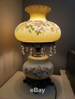 Vintage Gone With The Wind 24 Parlor Lamp (GWTW) Hand Painted Roses Chandelier