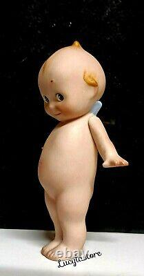 Vintage ROSE ONEILL Bisque Kewpie Wing Doll Baby Figurine Hand Painted 6.25 H
