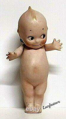 Vintage ROSE ONEILL Bisque Kewpie Wing Doll Baby Figurine Hand Painted 6 H