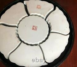 Vintage to Antique 12'' Rose Medallion Chinese Hand Painted Porcelain Dish Set