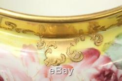 Willets American Belleek Antique 19th Century Hand Painted Cache Pot, Roses